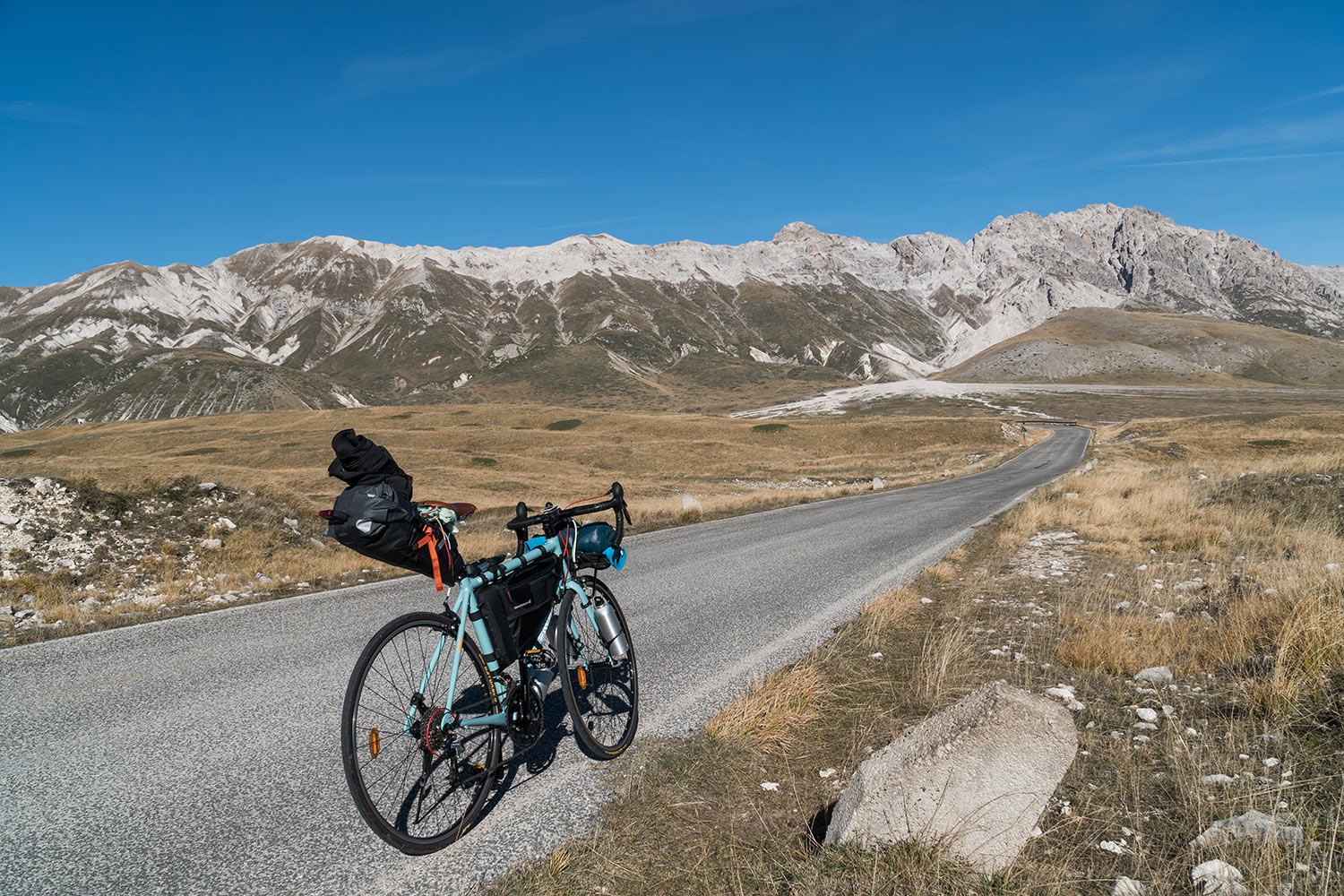 Bikepacking on Campo Imperatore, Gran Sasso