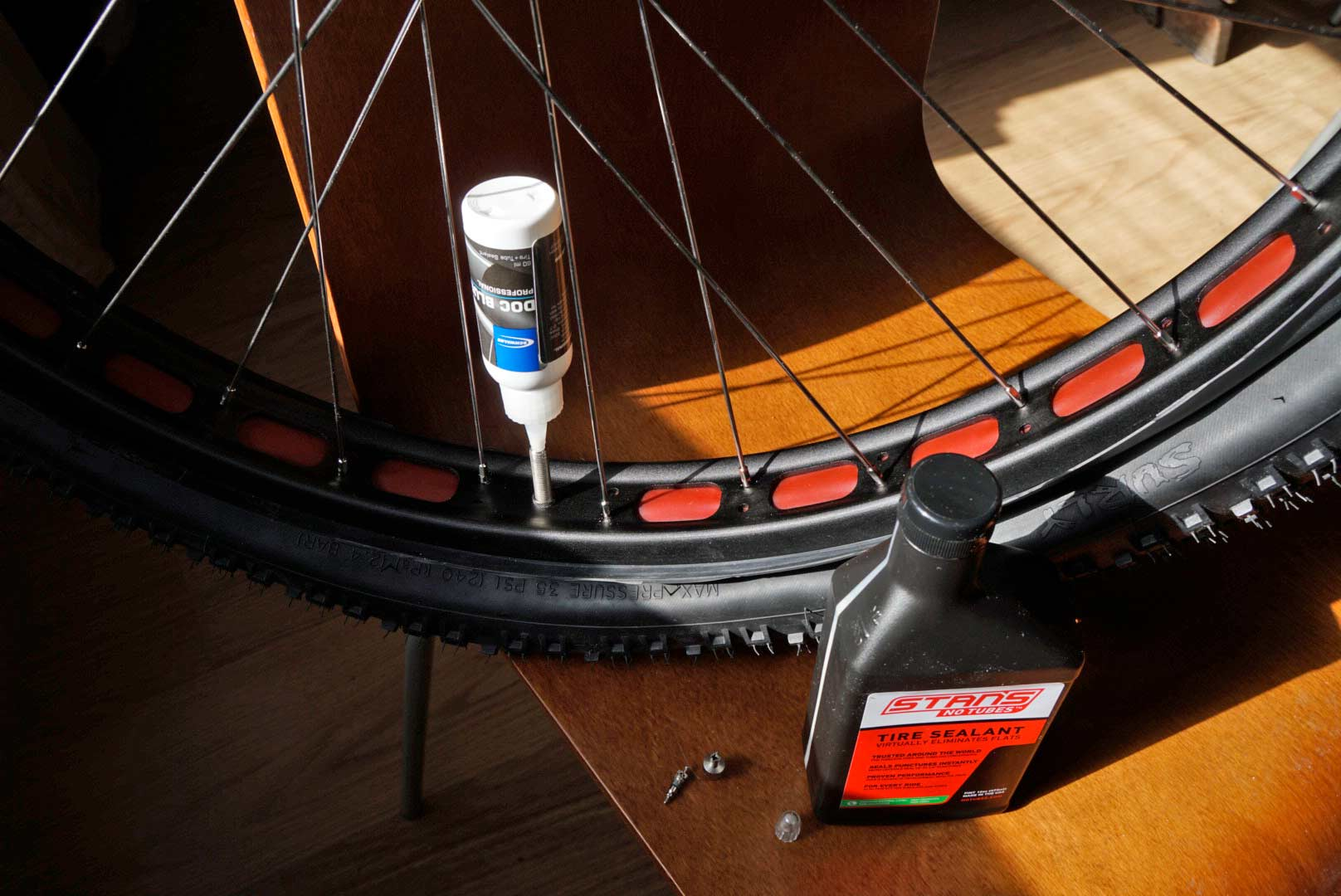 fill up with stans notubes for tubeless